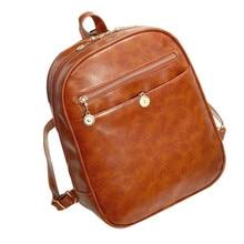 цены на 2019 New Hot Fashion Women's Leather Travel Satchel Fashion Shoulder Bag Backpack School Rucksack Backpack Soft  в интернет-магазинах