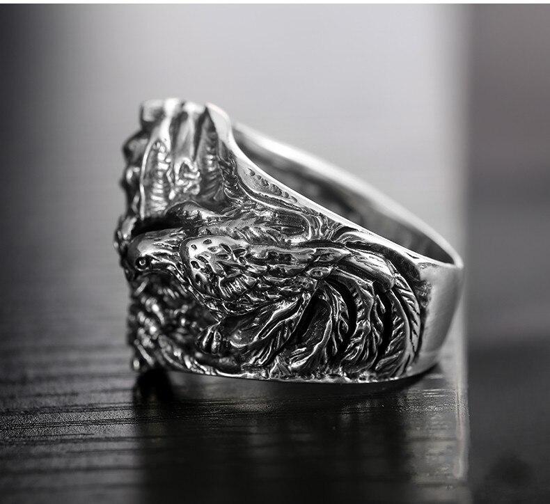 925 стерлингового серебра подлинные восточные вибрации новое кольцо с драконом - 3