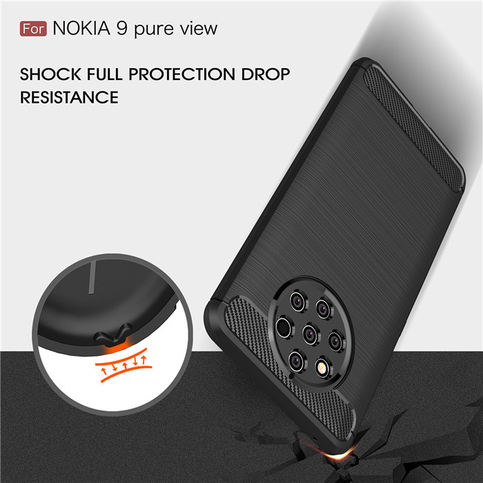 For Nokia 9 Pure View case Carbon Fiber
