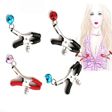 Sexy Nipple Breast Clamps Metal Chain Women Adult Sex Toy for Couples Products Collars Metal Clips Stimulator Teaser Games недорого