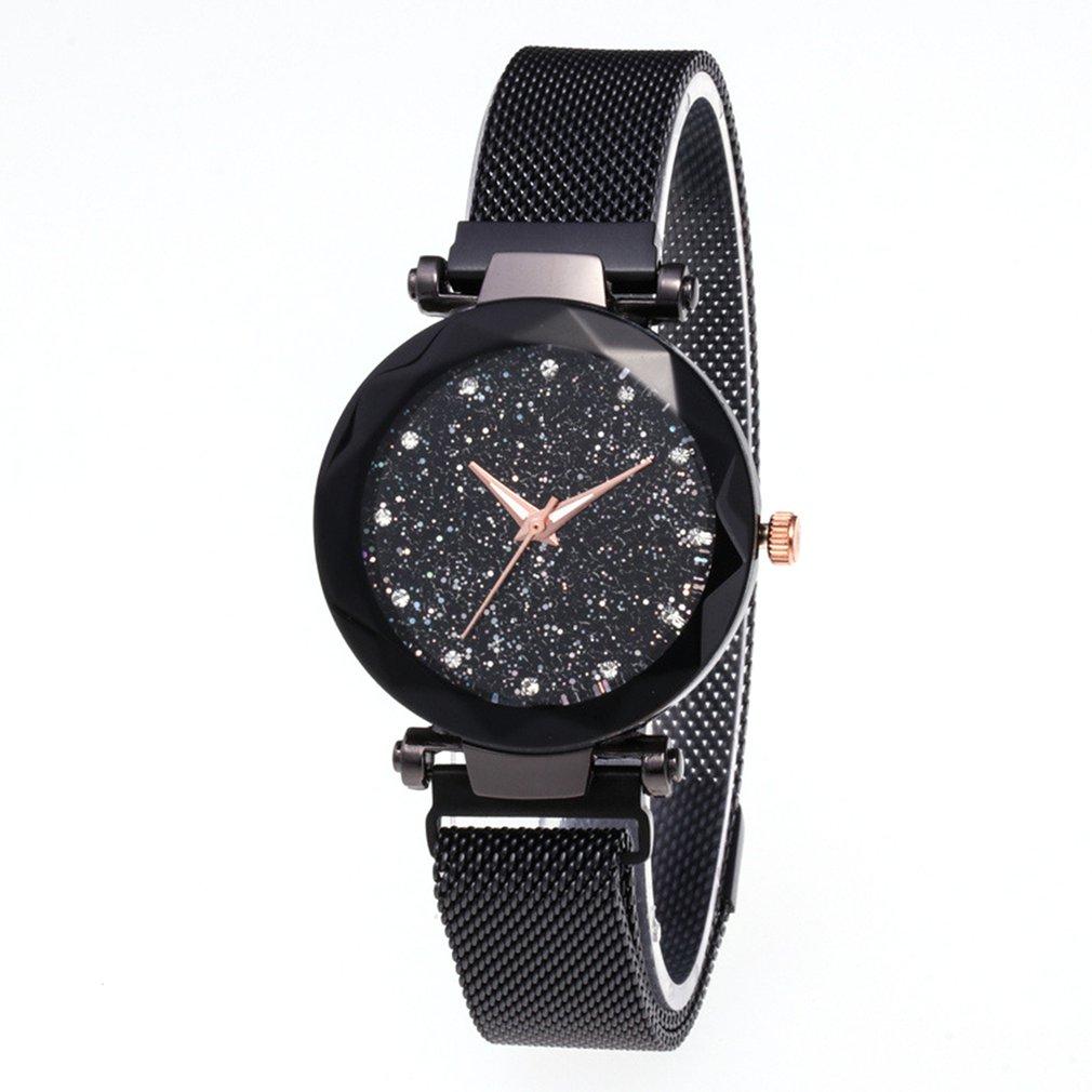Fashionable Starry Quartz Watch Lazy Watch Magnet Strap With Magnet Watch Wrist Watch Jewelry Accessories
