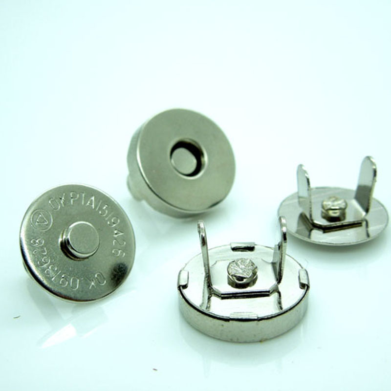 100 Magnetic Purse Snap Sets Silver Tone Clasps Button Great For Fastening Bags