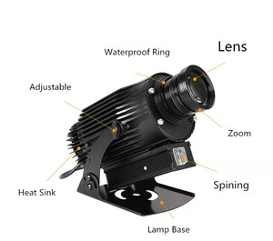 Image 5 - Waterproof IP65 Projector Logo 30W 40W 50W 60W 80W 100W  Images Sign Advertising LED Customized Company Logo Light Your Logo
