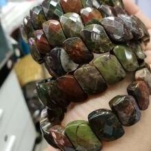 Браслет из натурального тропического агата браслет камня самодельные