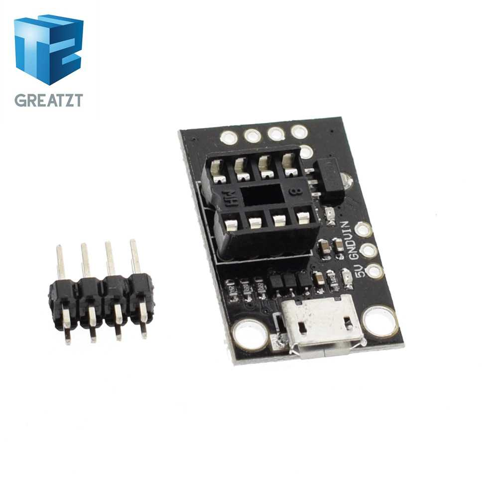 Weiming 10pcs Pluggable Development Board for ATtiny13A//ATtiny25//ATtiny45//ATtiny85 Programming Editor Micro USB Power Connector