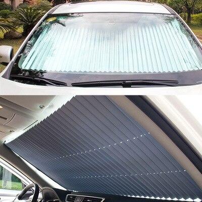 Auto Automatische Teleskop Folding Sonnenschirm Coche Sonnencreme Isolierung Sonne Block Windschutzscheibe Sonnenschutz Auto Parasole