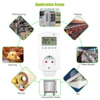 Thermostat Digital LCD Programmable Temperature Controller Controlling Air Conditioner Thermoregulator Plug In Thermostat