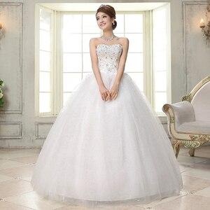 Image 4 - Costomize real foto vestido de casamento 2016 estilo coreano vestido de noiva vestido de noiva de lantejoulas de comprimento do chão vestido de noiva