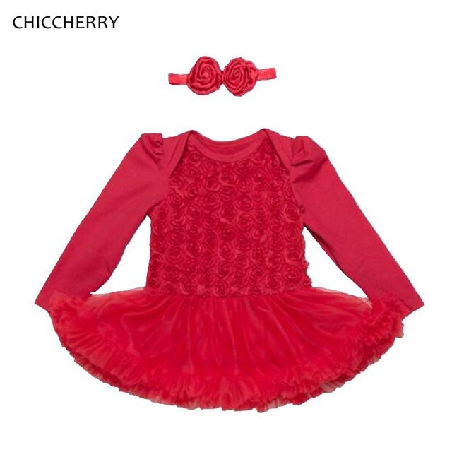 5 Colores de Rosa de Manga Larga Del Cordón Del Recién Nacido Conjunto Tutús de San Valentín Vestido de Niña de la Ropa Del Niño Infantil Roupa de Bebe-ropa