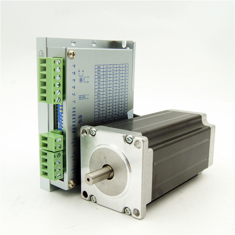 NEMA 23 Jingbo stepper motor J57HB115-03 286oz-in and Driver JB542M 4.0A DC20-50V 200Micro CNC Router Engraving Machine wantai new sale cnc 3 axis nema 23 stepper motor 57bygh115 003 425oz in driver dq542ma 128mic 50v 4 2a engraving