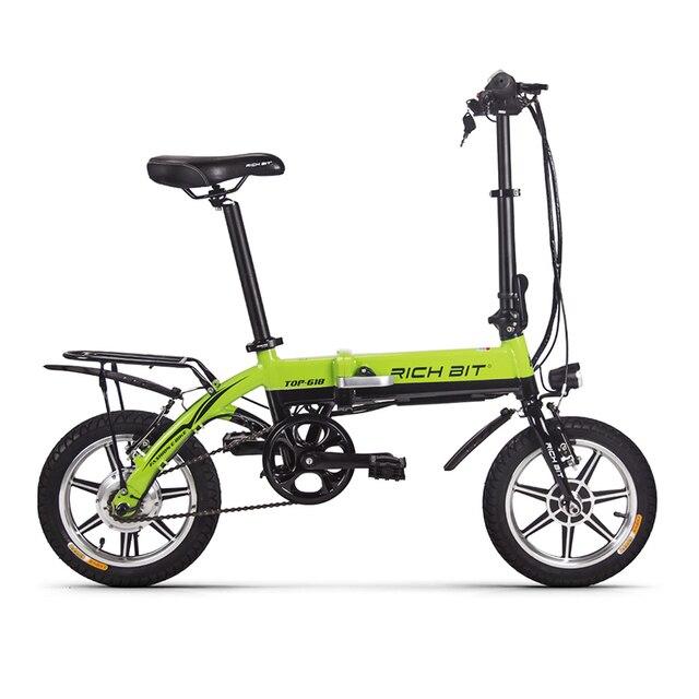 Richbit мини-складной велосипед 36 В 250 Вт литиевых Батарея Электрические велосипеды складной Электрический горный велосипед с 10.2Ah Батарея