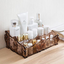 Makeup Organizer for Cosmetics Storage Box Rack Make Up transparent Boxes lipstick nail polish brush holder for dressing table(China)