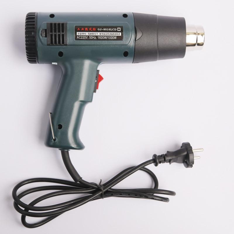 Heat gun AC220V-240V 1600W Temperature Digital Display Temperature Adjustable industrial hair dryer hot air gun GJ-8016 Heat gun цена