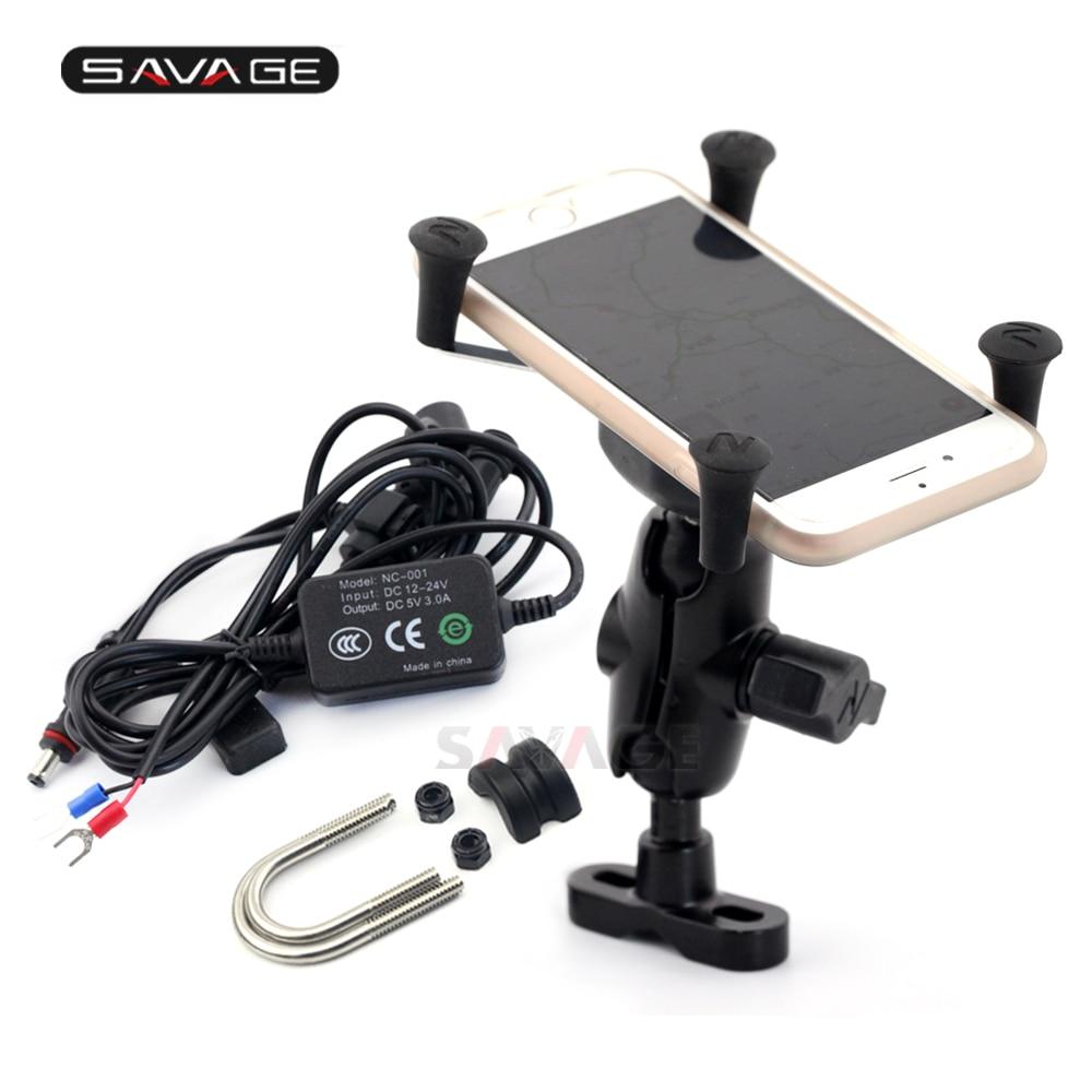 Support de Navigation téléphonique avec Port de Charge USB pour SUZUKI DL1000 650 V-STROM SV 650 SFV 650 GSX1300 cadre accessoires moto