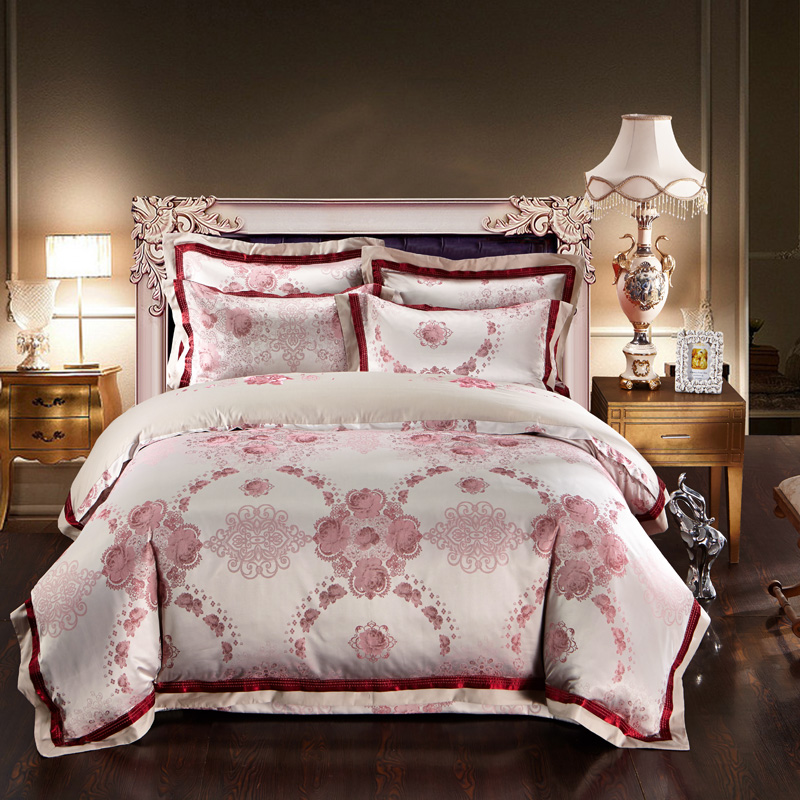 luxury chinese bedding sets Embroidered Jacquard Egyptian cotton silk satin duvet quilt covers bed spread queen king sizes 4/5pcluxury chinese bedding sets Embroidered Jacquard Egyptian cotton silk satin duvet quilt covers bed spread queen king sizes 4/5pc