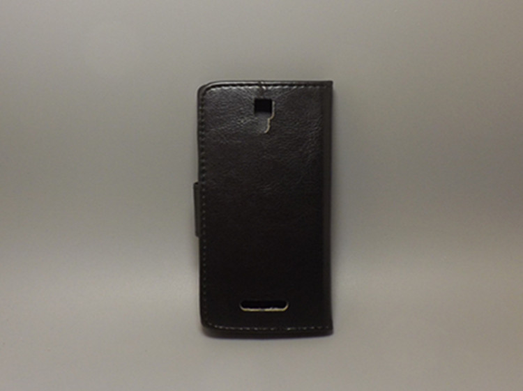 Crazy horse wallet case hold two Cards with 2 Card Holder and pouch slot For Lenovo A1000 A 1000 Case on A1000