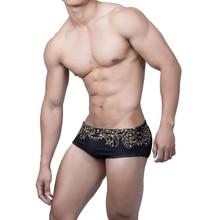 Новая одежда для плавания, цветочные мужские плавки для загара с низкой талией, сексуальные шорты для плавания, Мужской купальный костюм