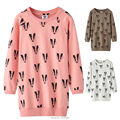 Long Sweatshirt For Boys Girls Long Sleeve Tee Shirts Badger Print Kids Clothes T-Shirt Sweatdress Bobo Choses Tops Children