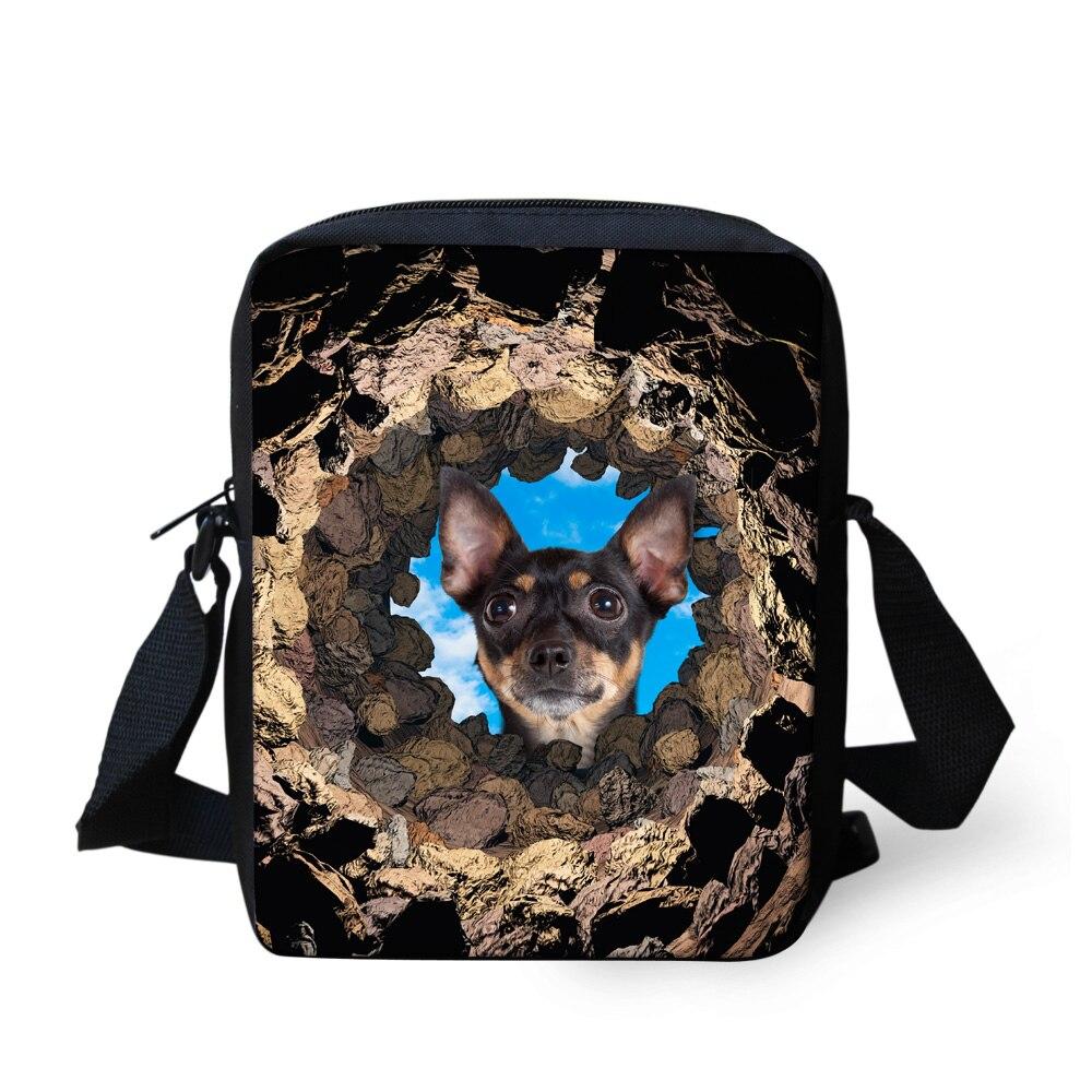 Brand Original Animal Mens Messenger Bag Cute Pet Dog Boys Casual Cross Body Bag for Children Kids Design Bags Bolsos Femininas