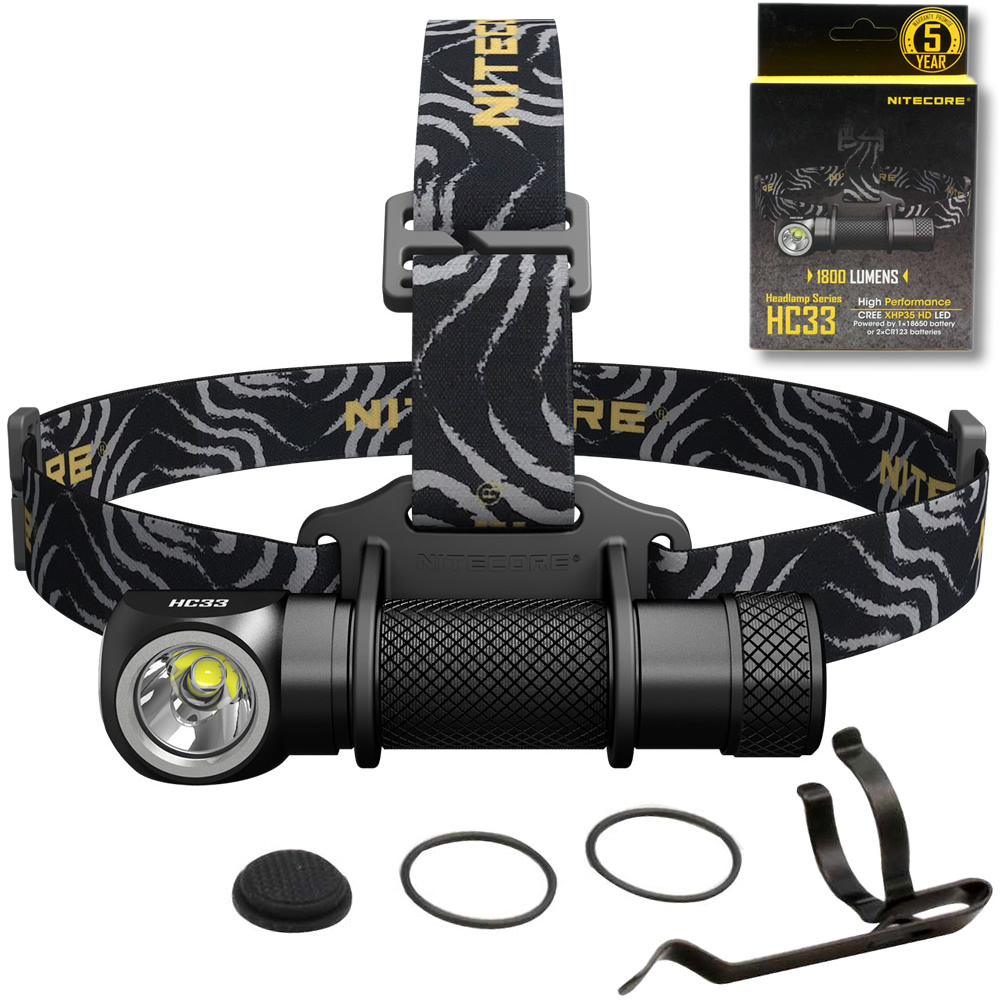SALE 2018 NITECORE HC33 Headlamp 1800 Lumen CREE XHP35 HD LED Waterproof Flashlight Outdoor Camping Travel