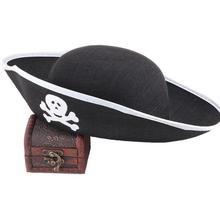 Аксессуары для Хэллоуина, шляпа с черепом, пиратская шляпа, пиратская шляпа, головные уборы Corsair, вечерние, реквизит, костюм, театральная игрушка