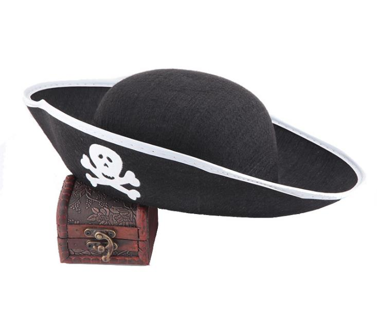 Halloween Accessories Skull Hat Caribbean Pirate Hat Piracy Hats Corsair Cap Party Props Costume Theater Toy