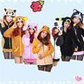 Spring Animal Women Men's Stitch Panda Cat Rilakkuma Wolf Tiger Dinosaur Charmander Kigurumi Hoodies Coat With Ears Plus Size