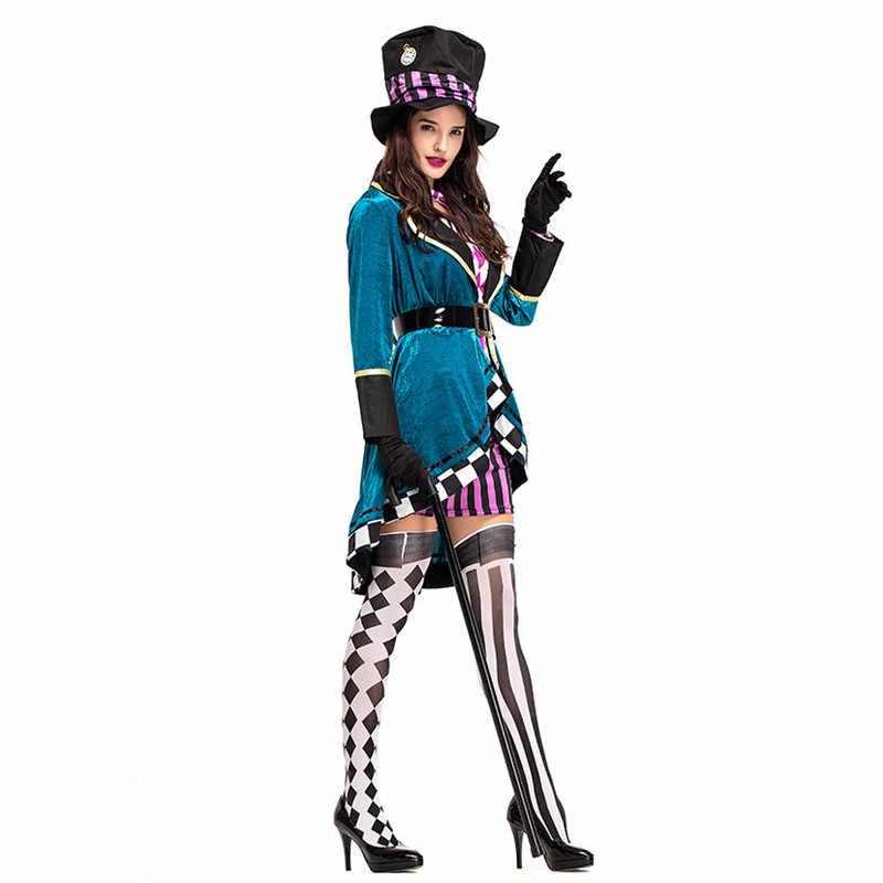 9e47de78db ... Female Magician Tuxedo Uniform Women Halloween Costumes Zoo Circus  Animal trainer Cosplays Carnival Purim Masquerade Party ...