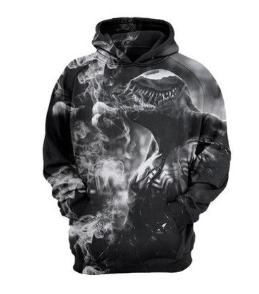 3D Printing  Superhero Cosplay Coat Venom  Deadpool Hooded Sweatshirt Sportswear Costume Tops Hoodie Super Hero
