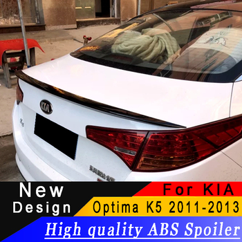 For Kia Optima K5 2011 2012 2013 spoiler High quality ABS rear wing primer or any color rear spoiler For KIA Optima K5 фото