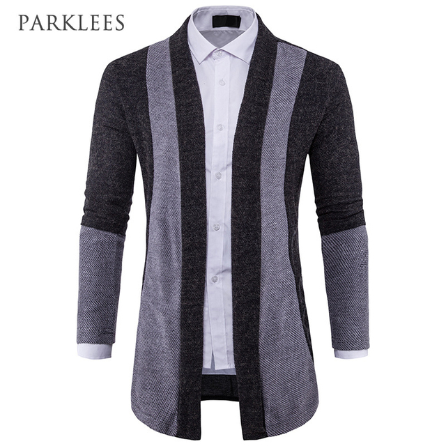 7095a1570 New Shawl Collar Cardigan Men 2017 Autumn Winter Long Mens Cardigans ...