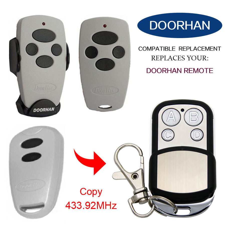 DOORHAN remote control 433MHz replacement rolling code remote control doorhan garage door remote control