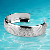 2014 Brand New Solid Genuine 925 Sterling Silver Bangle For Lady Fashion Jewelry Of Bangle Gift