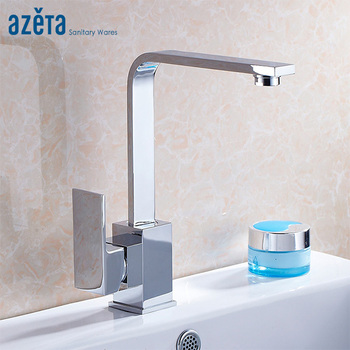 Azeta Contemporary Style Torneira 360 Degree Rotatable Kitchen Tap Chrome Brass  Cold and Hot Water Kitchen Mixer Faucet MK1204