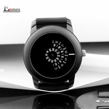 2017 gift Enmex creative style men wristwatch black camera concept cool design silicone band brief casual
