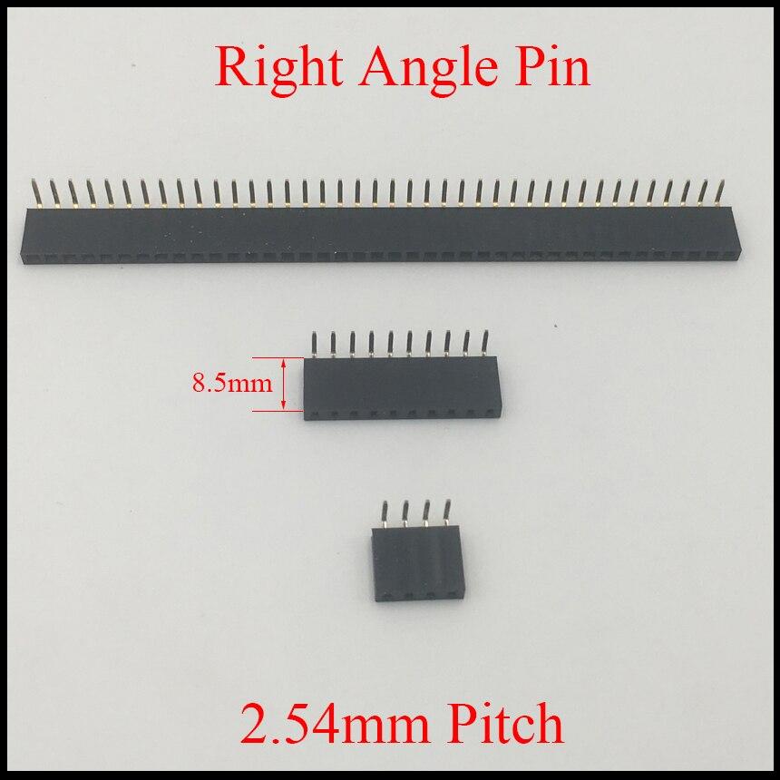 100PCS 2.54mm Pitch 12Pin Header Single Row Female Straight Strip PH 8.5mm