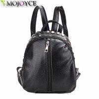 Small Women Leather Backpack For Girls Feminine Knapsack School Bags For Teenagers Rucksack Mini Backpacks Rivet