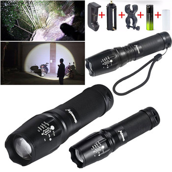 5000 Lumen G700 LED Zoom Flashlight X800 Military Lumitact Torch Battery Charger Bicycle Accessaries Flashlight Bike Torch D*e image