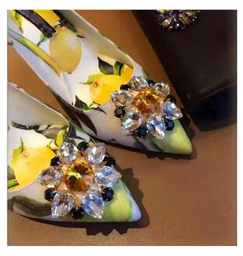 Pointu Partie Glitter Bling Show De Pompes Fleurs Mariage Cristal Stillettos Hauts Femme as As Talons Strass Marque Impression Chaussures Orteil Mode Show Ona1Px1