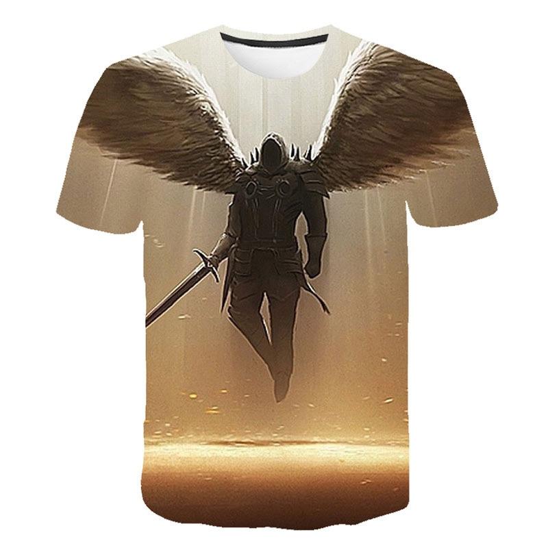 2019 Summer New Fashion Casual Mortal Kombat 11 T-Shirts New Print Popular Fighting Game Mortal Kombat 11 T-Shirt Men/Women Tops