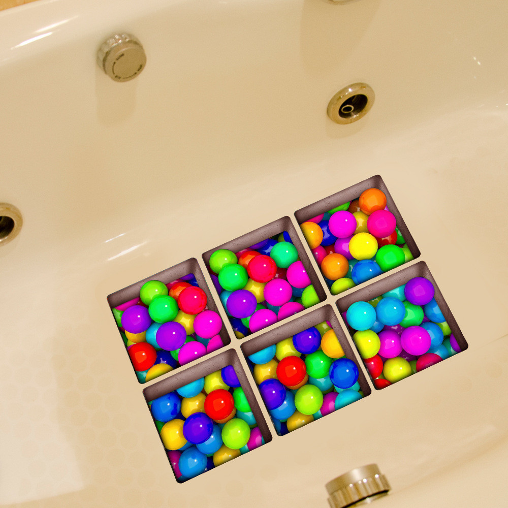 2017 ISHOWTIENDA New Fashion 3D Nonslip Bathtub Appliques Bath Bathtub Sticker Tub Bathroom Decal PVC Mural#25