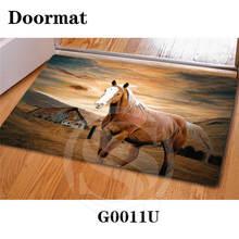 Personalizado Hermoso caballo Alfombra Felpudo Dormitorio Decoración Para El Hogar Clásico SQ0630-KL90123 Durable Floor Mat Envío Libre