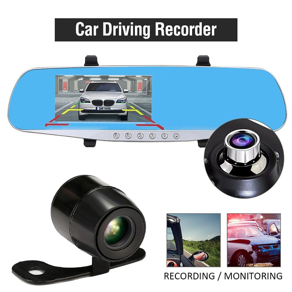 TFT LCD HD 1080P Car DVR font b Camera b font Rearview Mirror 170 Degree Dual