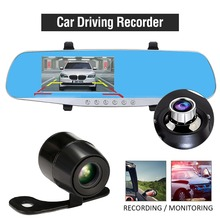 TFT LCD HD 1080P Car DVR Camera Rearview Mirror 170 Degree Dual Lens Camcorder Dashcam Video Recorder Parking Assistant Monitor