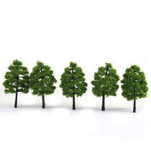 20pcs / lot 9cm height Model Tree Scenery simulation Green Tree Scene Decoration Tress