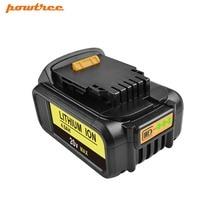 Powtree 18V/20V 4.0Ah For DeWalt DCB200 Power Tools Li-ion Battery Replacement DCB181 DCB182 DCB204 DCB101 DCF885 DCD740 DCD740B high quality 20v 4000mah power tools batteries for dewalt dcb181 dcb182 dcd780 dcd785 dcd795 charger usb power source