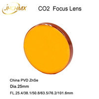 JHCHMX CO2 Focus Lens China PVD ZnSe Lens Dia.25mm FL.25.4/38.1/50.8/63.5/76.2/101.6/127mm 1.5 5 for CO2 Laser Machine