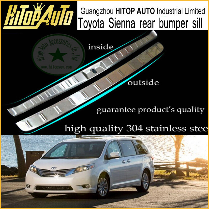 Sienna bumper sill cover/rear door sill.rear trunk sill plate for Sienna,stainless steel,wholsales,low profit,fit 2010 to 2016