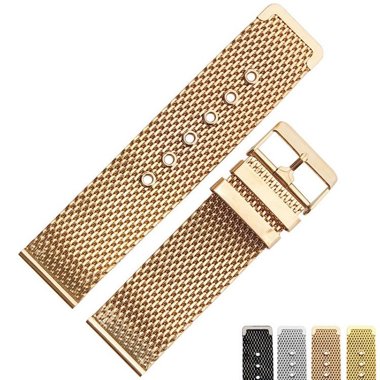 18 20 22 24mm Men Lady 4 color Mesh Milanese Loop Steel Bracelet Wrist Watch Band Strap Belt Magnetic for daniel wellington