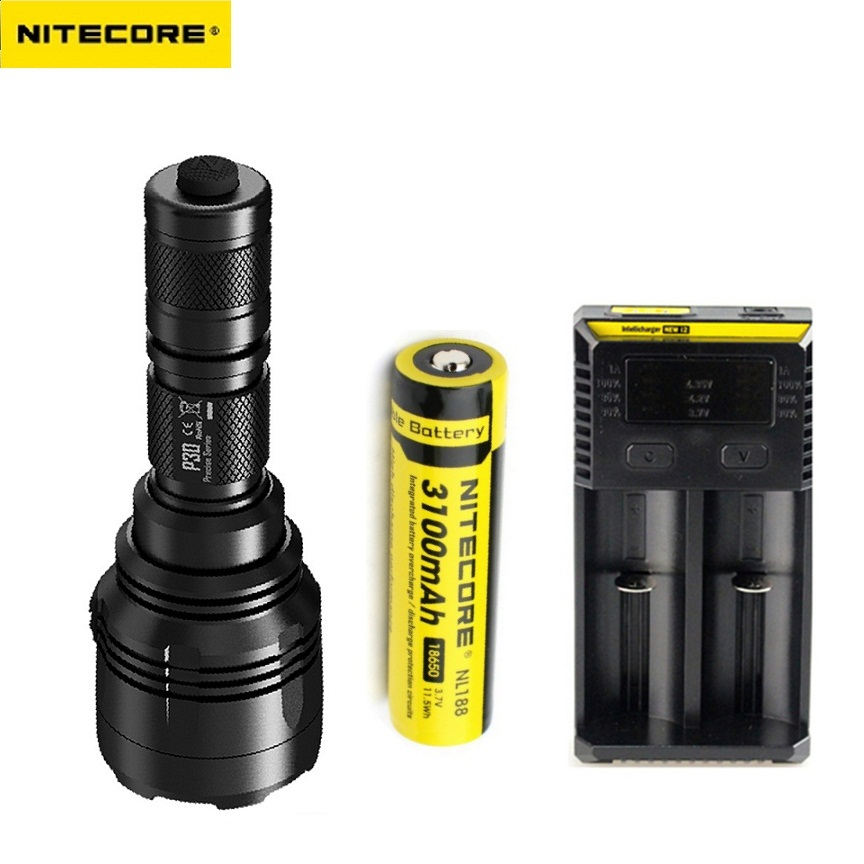 NITECORE P30 5 Modes CREE XP-L HI V3 LED max.1000LM LED Flashlight Long Range 618 meter LED Hunting Torch Search LED Light nitecore p12gt cree xp l hi v3 1000lm led flashlight 320 meter torch new i2 charger 18650 3400mah battery for search